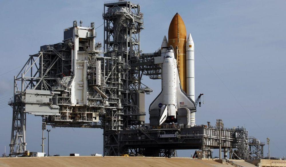 Discovery gjøres nå klar for oppdrag STS-124 på launch pad 39A på Cape Canaveral i Florida.