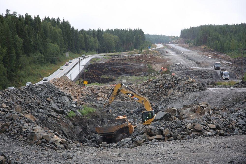 NYTT: Utbyggingen på Kolomoen er ett av de aktuelle veiprosjektene.