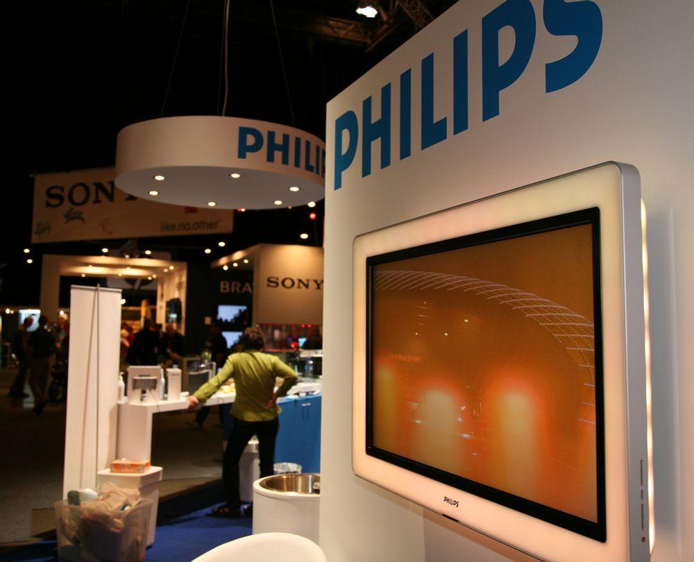 ELEKTROFIL-MESSA: Philips satser hardt på sin Aurea-serie, som har lys i ramma rundt skjermen.