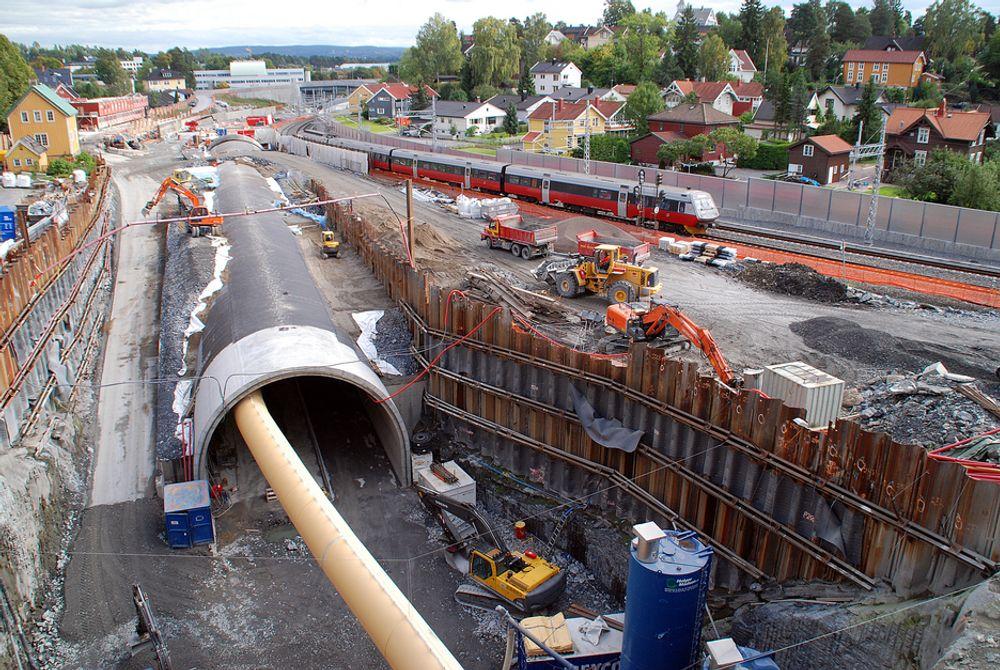 Togprosjekter blir prioritert i Oslopakke 3.