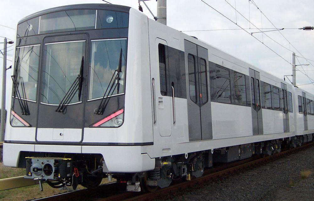 TIL TJERNSRUD: Kolsåsbanen bygges ut i små trinn. T-banen oppgraderes og klargjøres for de nye Siemens-vognene.