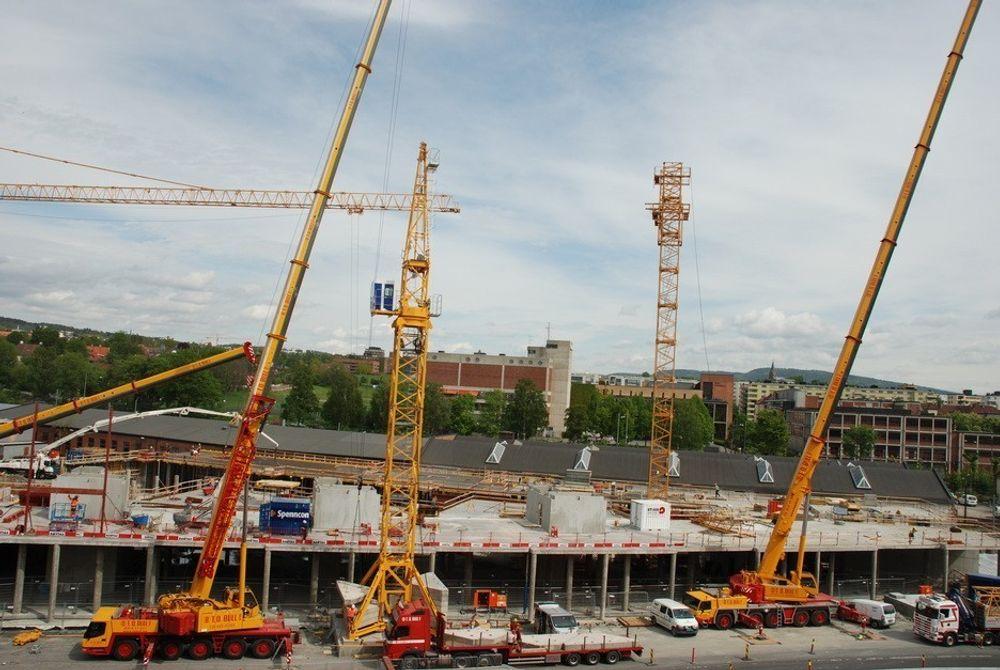 Nye boligprosjekter, som Nye Major i Oslo, er det blitt langt færre av så langt i år viser fersk statistikk fra SSB.