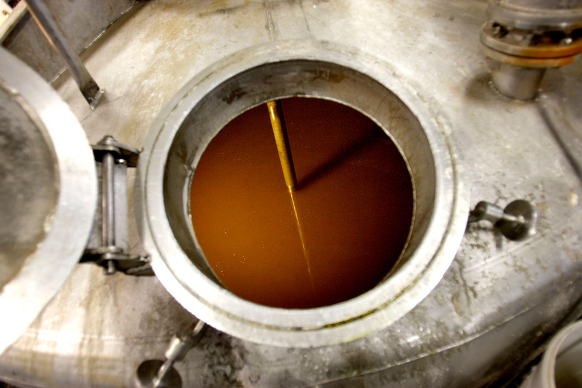 Produksjon av biodiesel hos BV Energi Hurum.