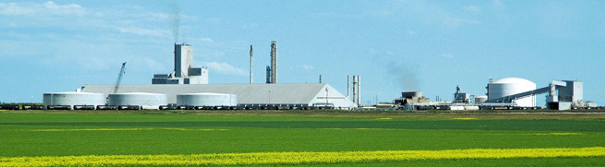 Saskferco-fabrikken ved Belle Plaine går for å være en av verdens mest energieffektive produsenter av ammoniakk, urea og UAN.