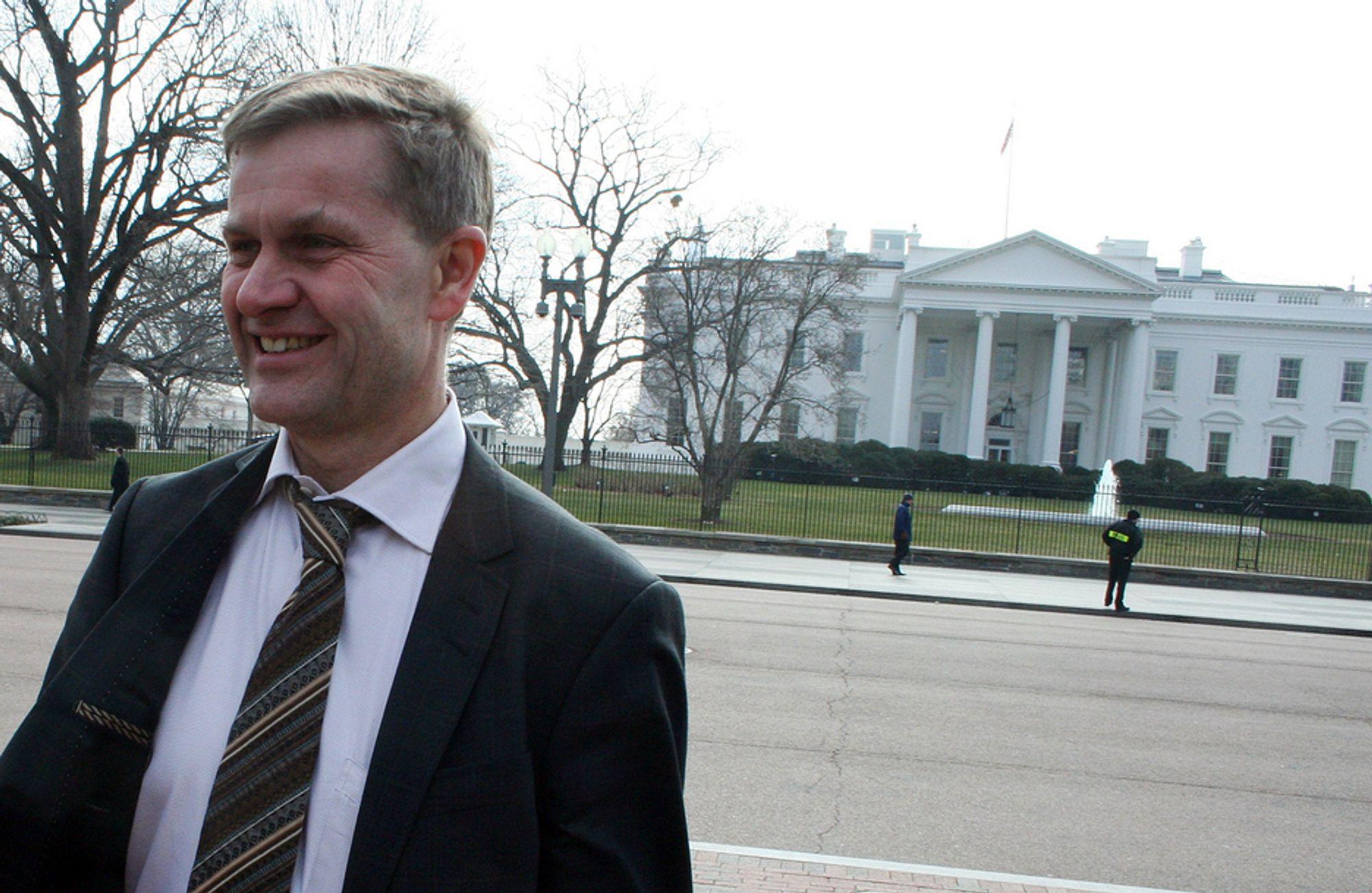 TRO PÅ USA: Miljø- og utviklingsminister Erik Solheim er i USA for å diskutere klima- og utviklingsspørsmål, og tror amerikanerne er i ferd med å ta det ansvaret resten av verden har ventet på.