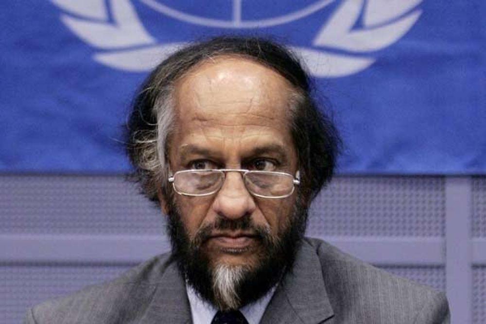 """KRITISERER: Rajendra Pachauri, leder for FNs klimapanel, kommer med sterke uttalelser om """"nærsynte"""" verdensledere som ikke tror på en sterk klimaavtale i København."""