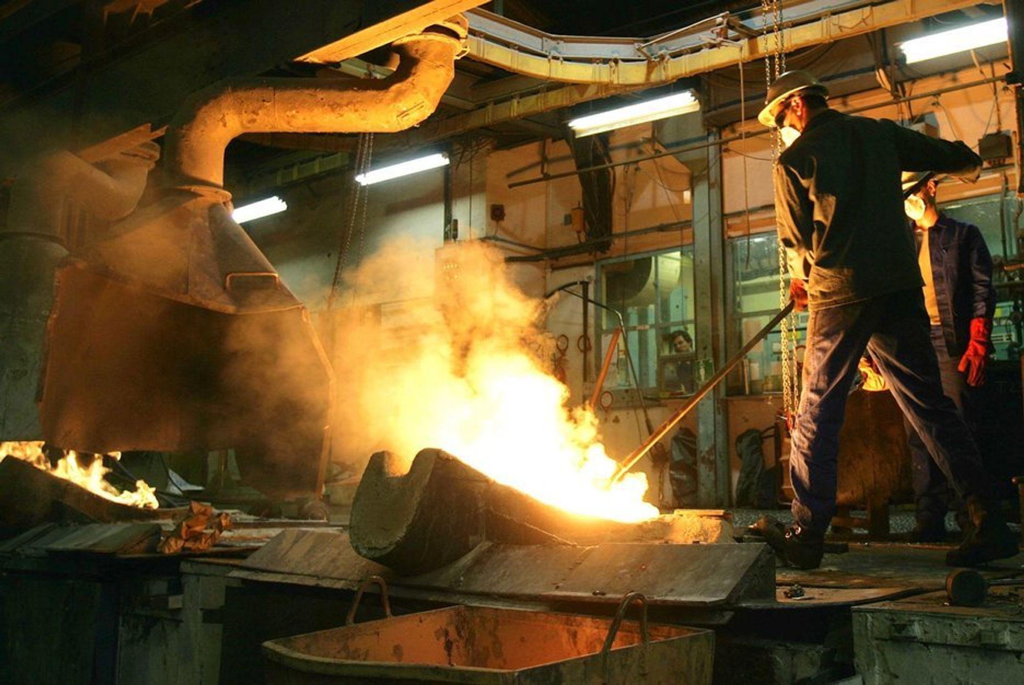Industri, industriarbeider, smelteverk