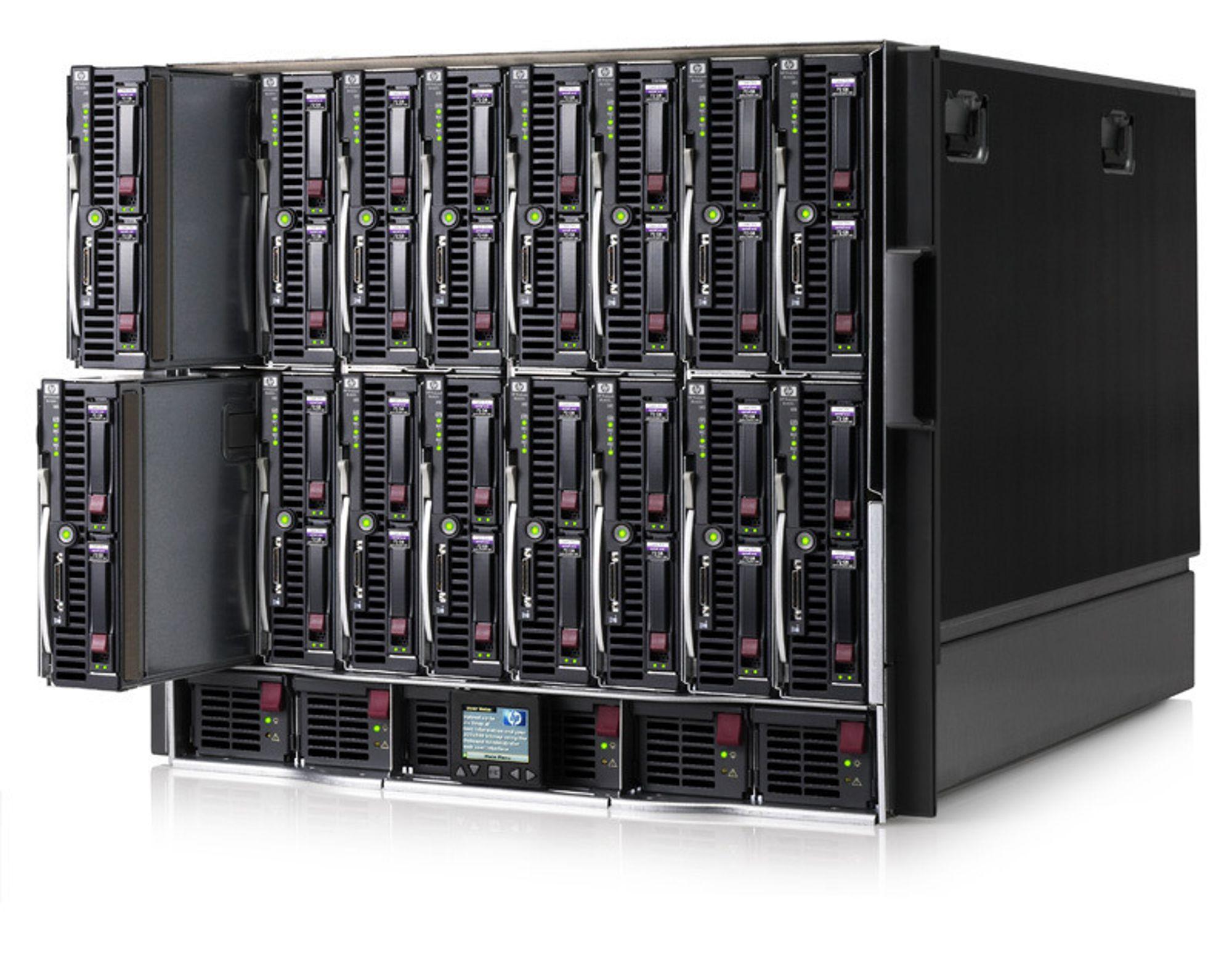 Grønn, grønnere... HP hevder å ha utviklet den hittil mest strømgjerrige serveren. Bildet viser en eldre utgave.