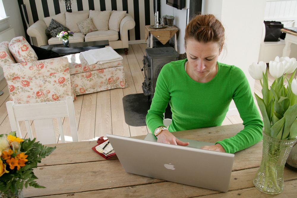 JOBB: Roen hjemme skaper effektive arbeidsdager.