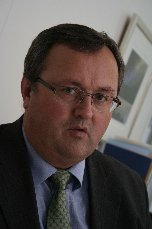 HAR GITT OPP: Steinar Bysveen, adm. direktør i EBL, har gitt opp å få energiministeren i tale.FOTO: OLE K. HELGESEN