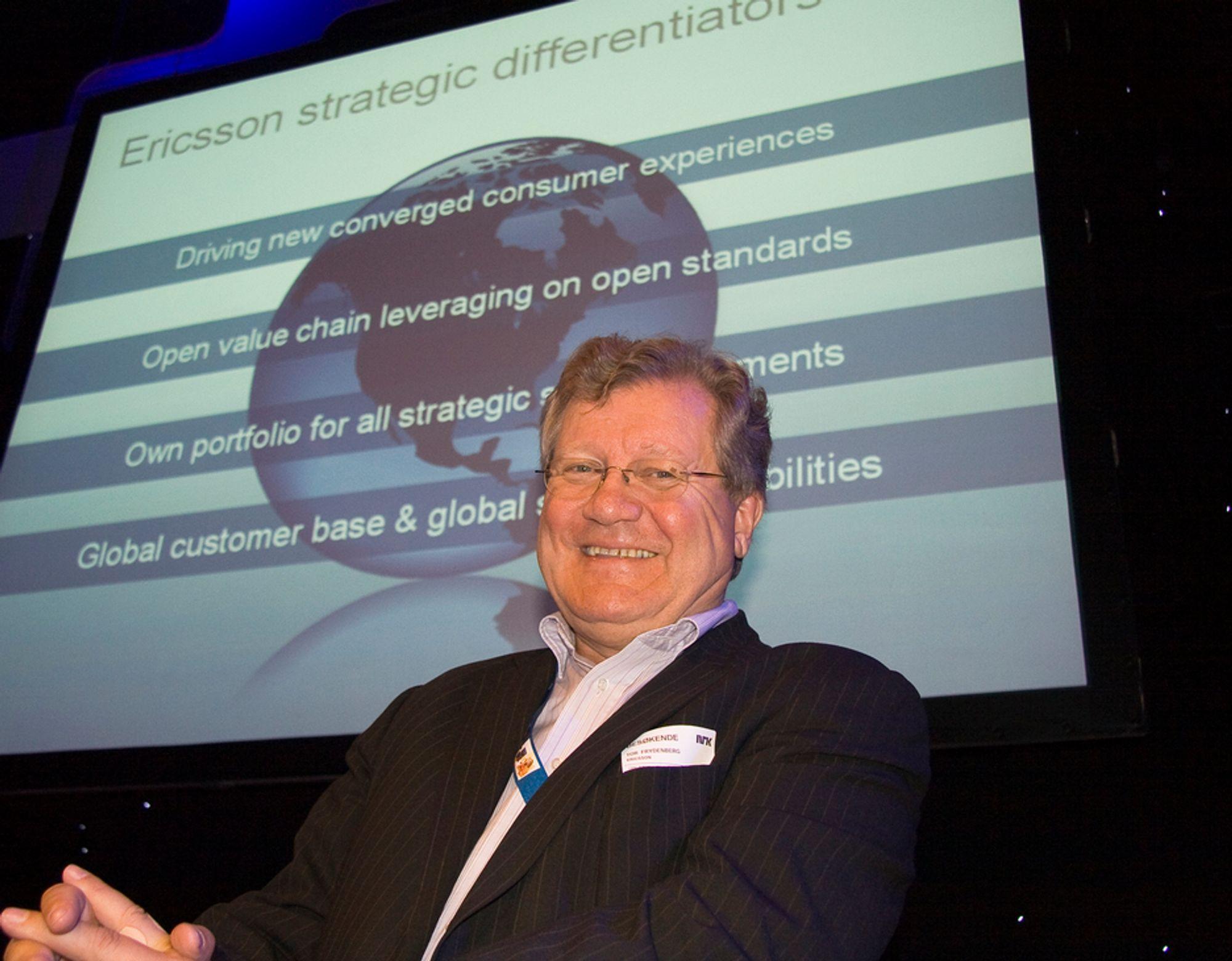 KLAR FOR TV: Den norske Ericssonsjefen, Tor Frydenberg, er klar til å ta et solid jafs av det kommende markedet for IP-TV.