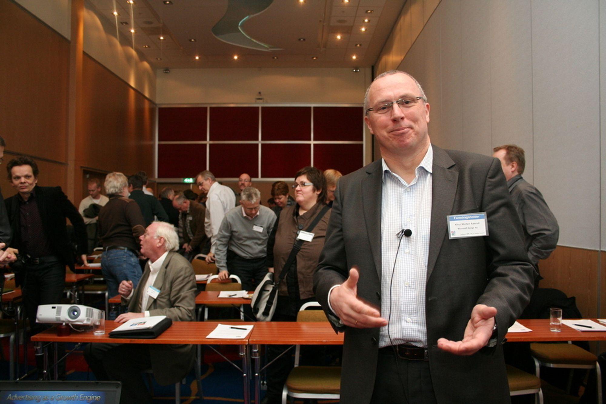 Adm. dir. Knut Morten Aasrud, Microsft Norge, på Software 2008, SAS Radisson Oslo