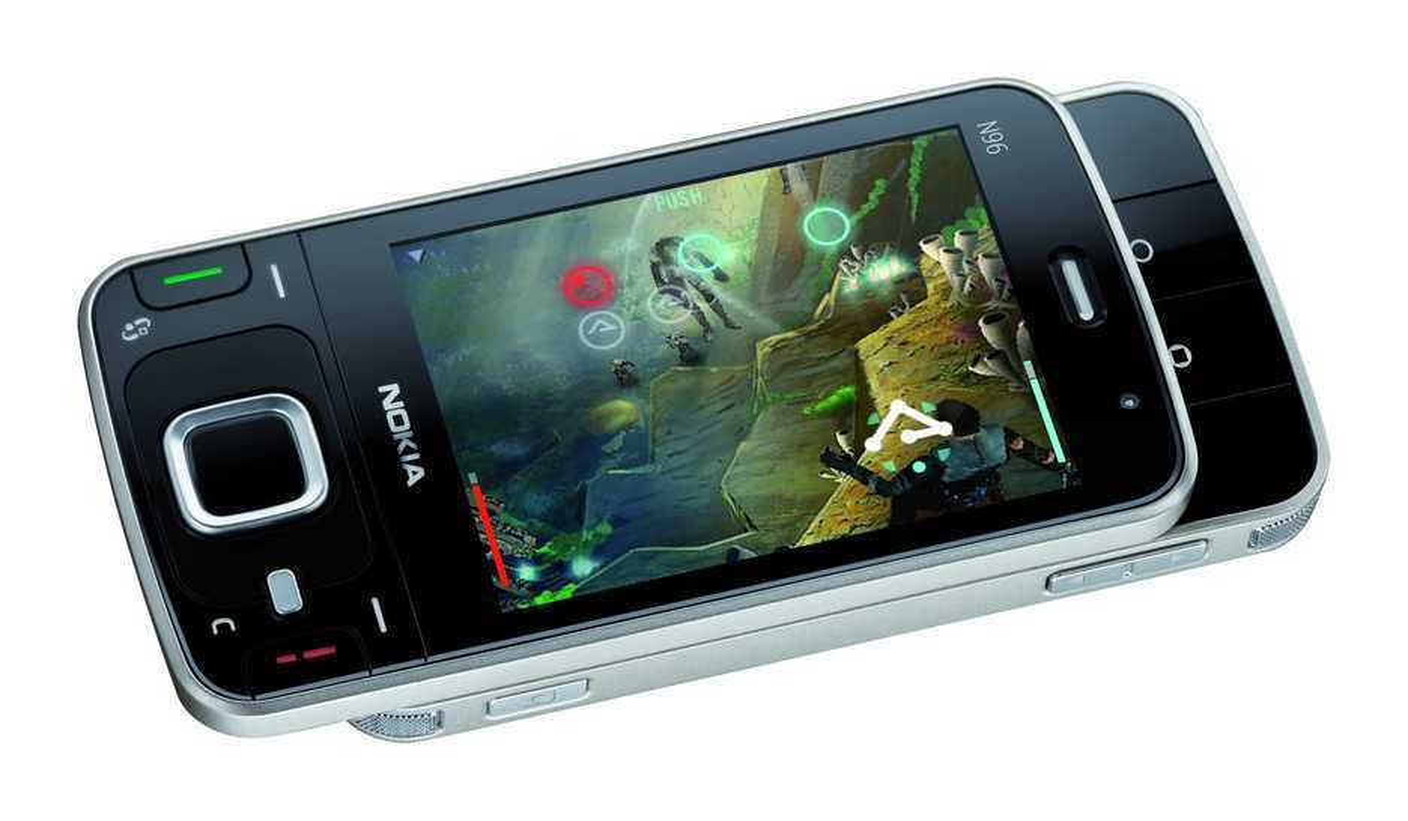 GOD LAGRING: Det store minnet kan lagre opp til 40 timer video. Lagringskapasiteten til Nokia N96 kan utvides ytterligere med et microSD-kort (kjøpes i tillegg), som for eksempel nye Nokia 8GB microSDHC Card MU-43, som øker det tilgjengelige minnet til Nokia N96 til 24 GB totalt.