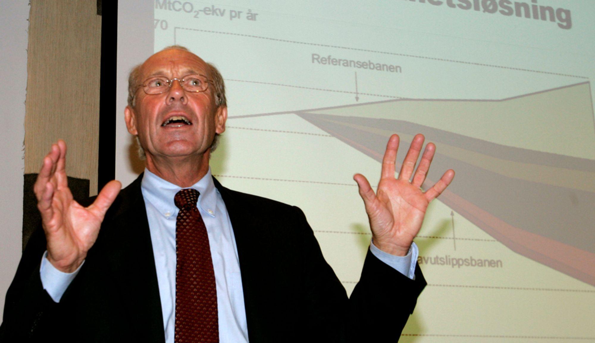 Jørgen Randers leder det norske lavutslippsutvalget.