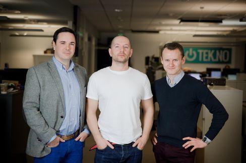 Pål, Thomas og Jørgen i Story Labs-teamet. Foto: Eirik Helland Urke.