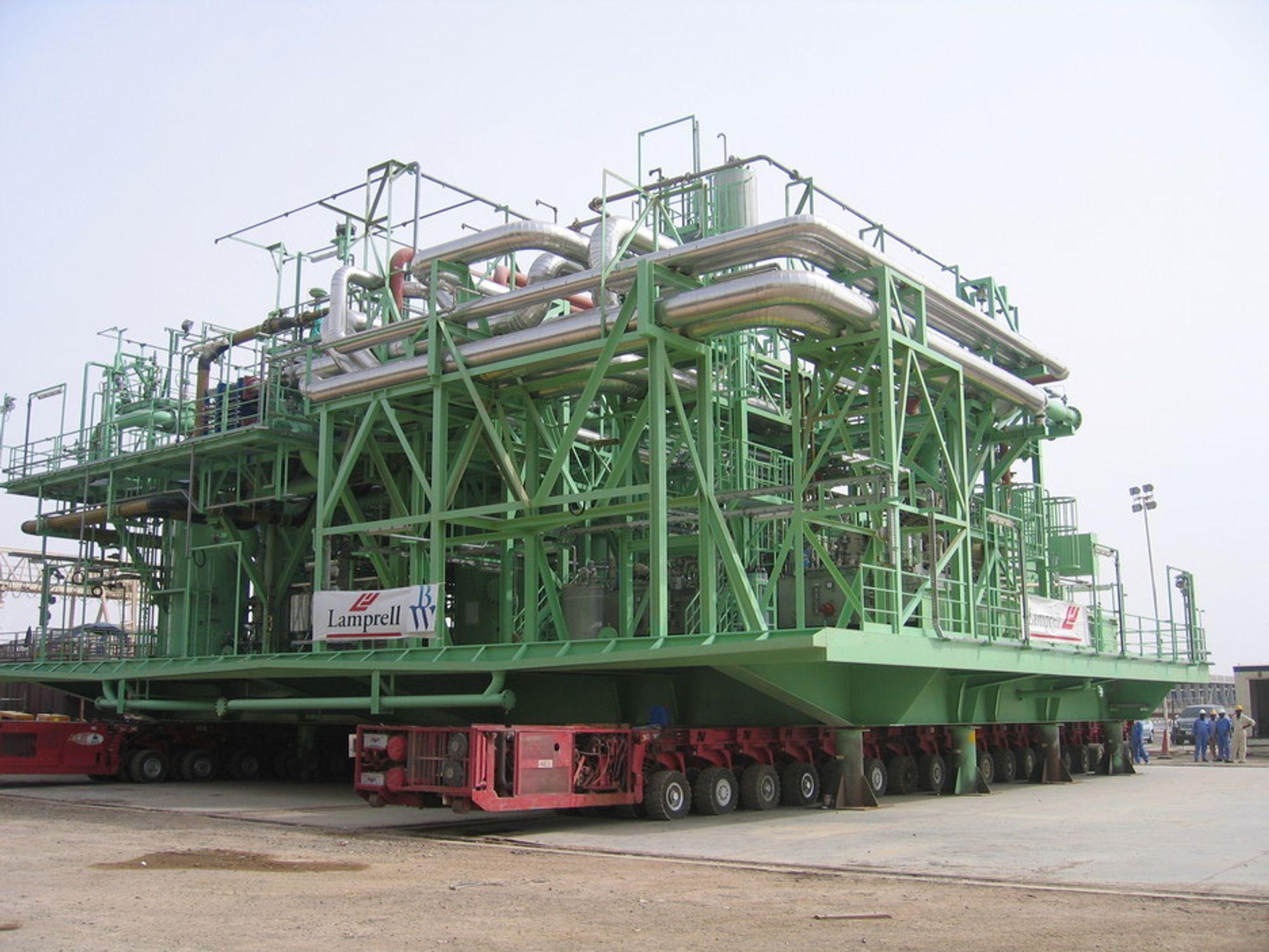 BW Offshore har tidligere levert verdens største FPSO (bildet). Nå satser de på å få i havn sin første FLNG-kontrakt.