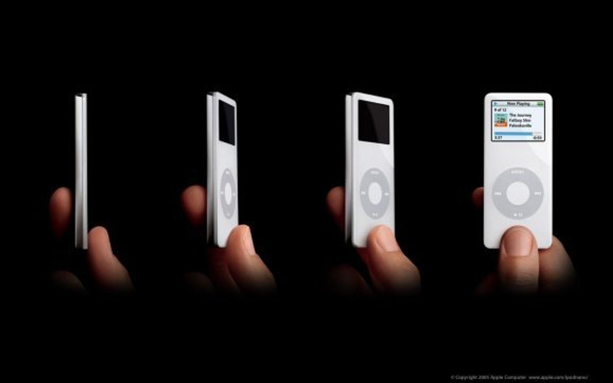 iPod Nano: Liten og lekker, men stor nok til å bli virusinfisert.