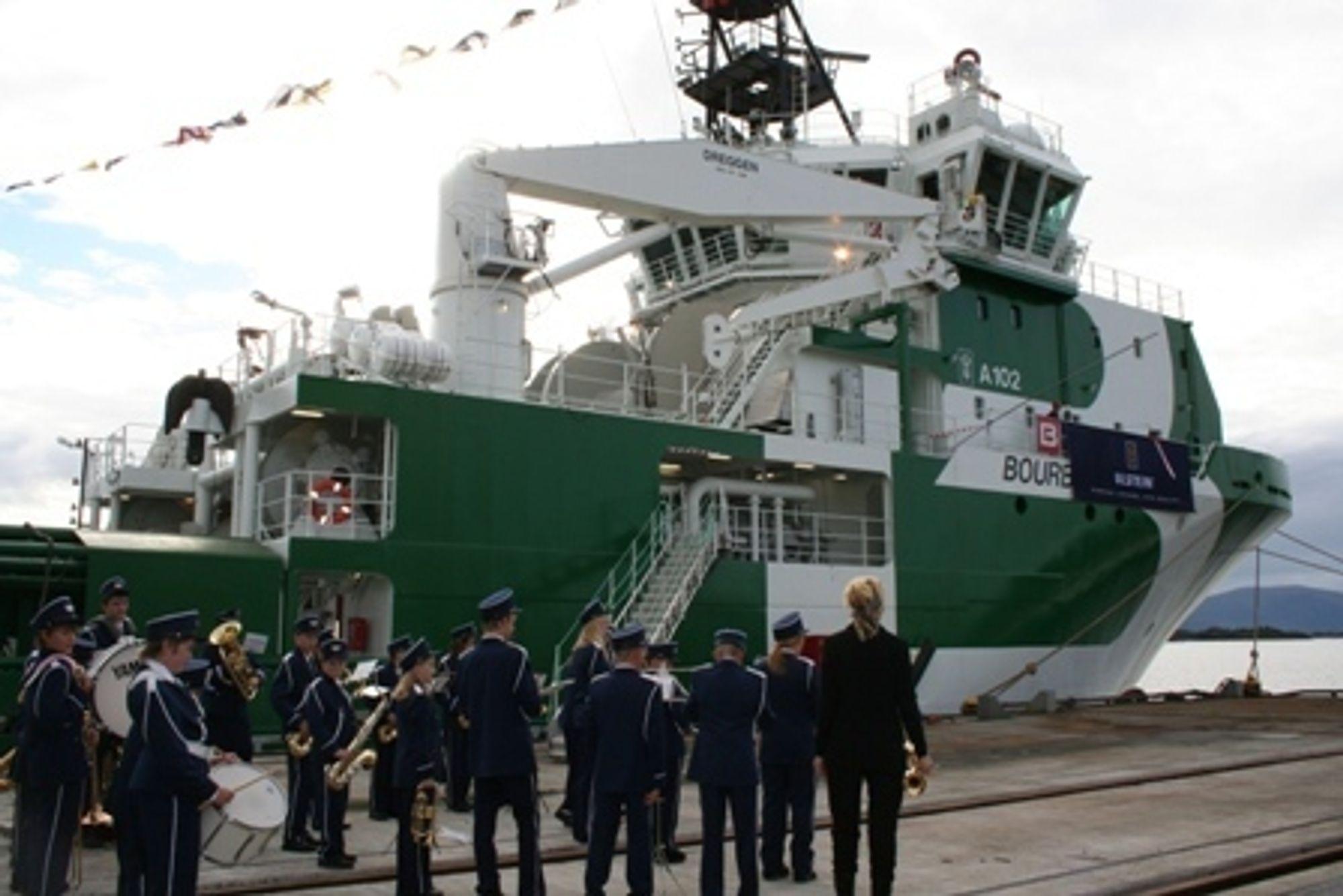 Bourbon Dolphin ble døpt 3. oktober 2006. Skroget er bygget i Polen og ferdiggjort ved Ulstein verft i Norge.