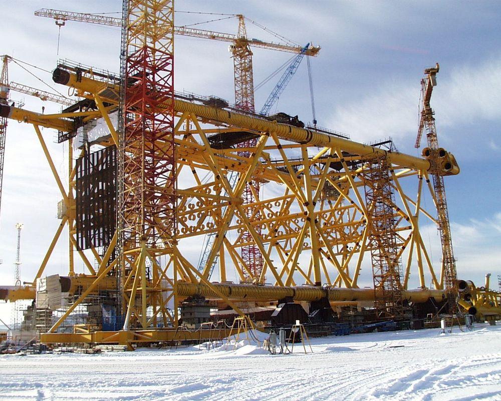 SPESIALIST PÅ JACKETS:I dag er Aker Verdal fremst i sin nisje når det gjelder bygging av stålunderstell til offshorebruk. FOTO: AKER VERDAL
