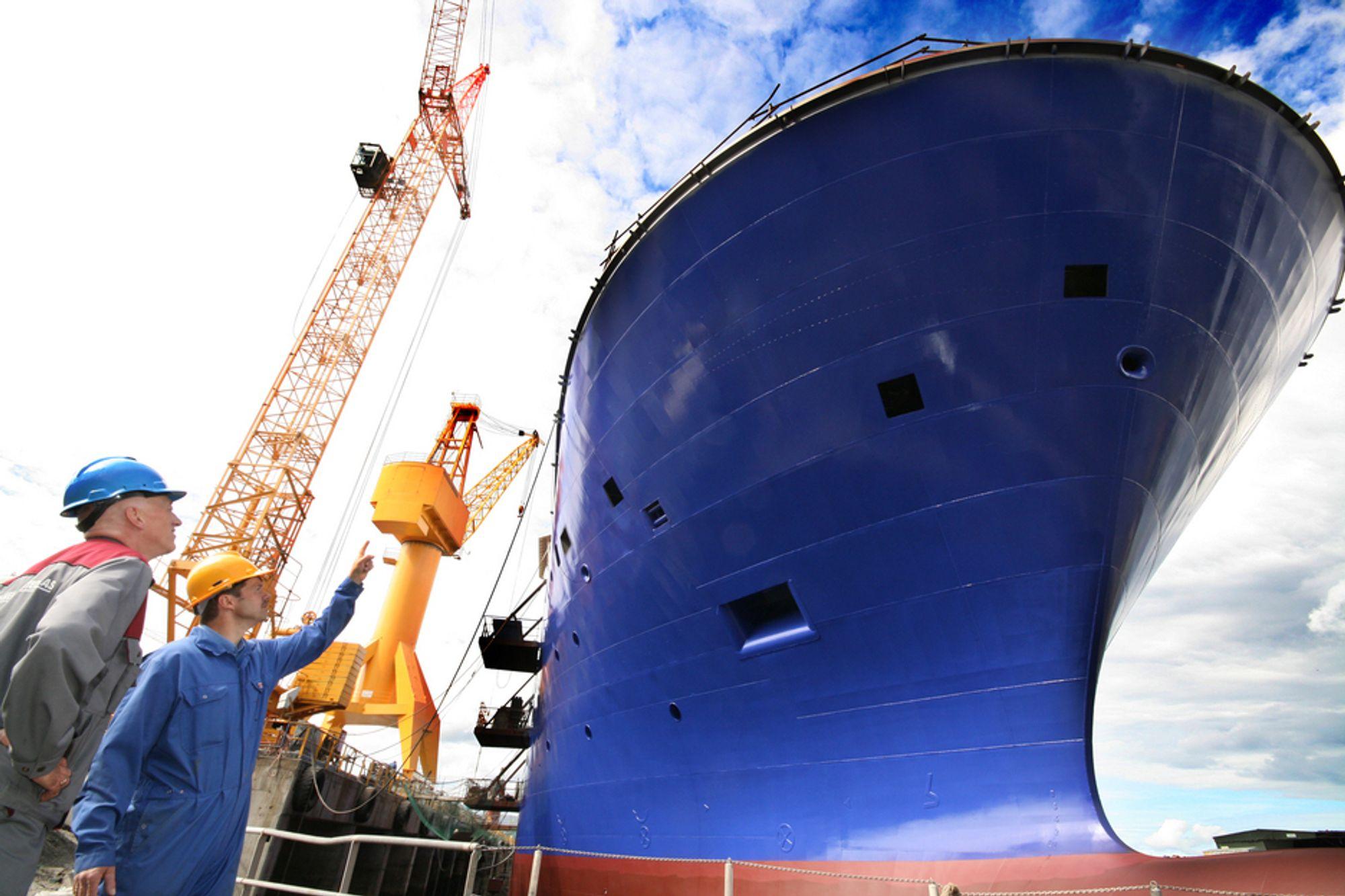 Mindre produksjon av skip har gitt produksjonsfall i den siste tremånedersperioden.