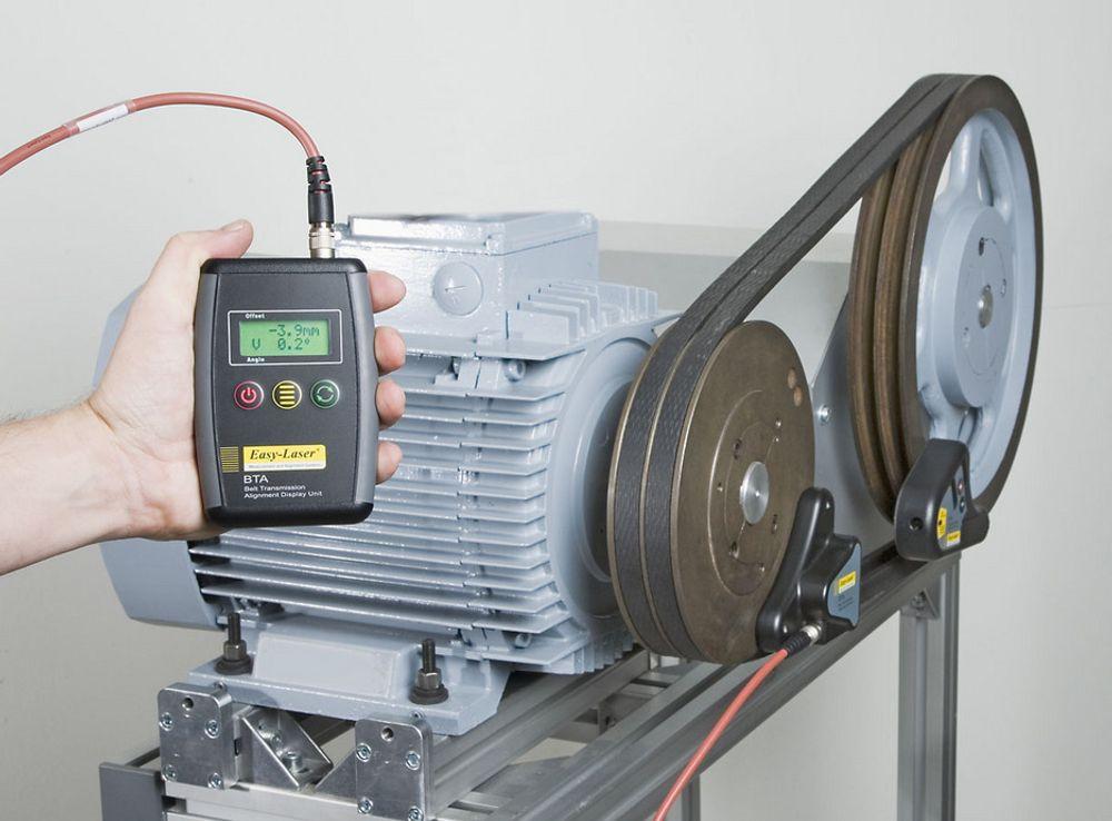 Laseroppretter reimdrevne maskiner