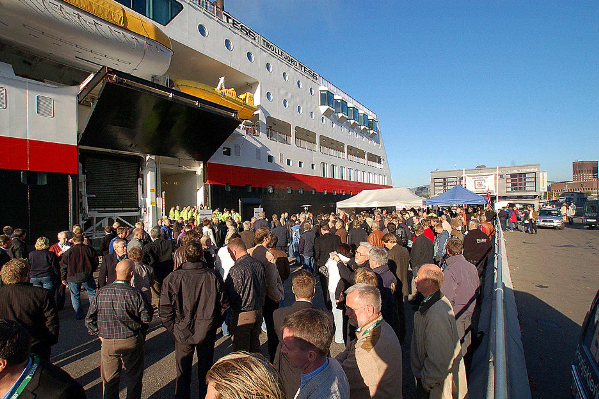 MESSE TIL SJØS: 4500 besøkende deltok sist på Industriens Motemesse. I år håper arrangøren på over 5000.