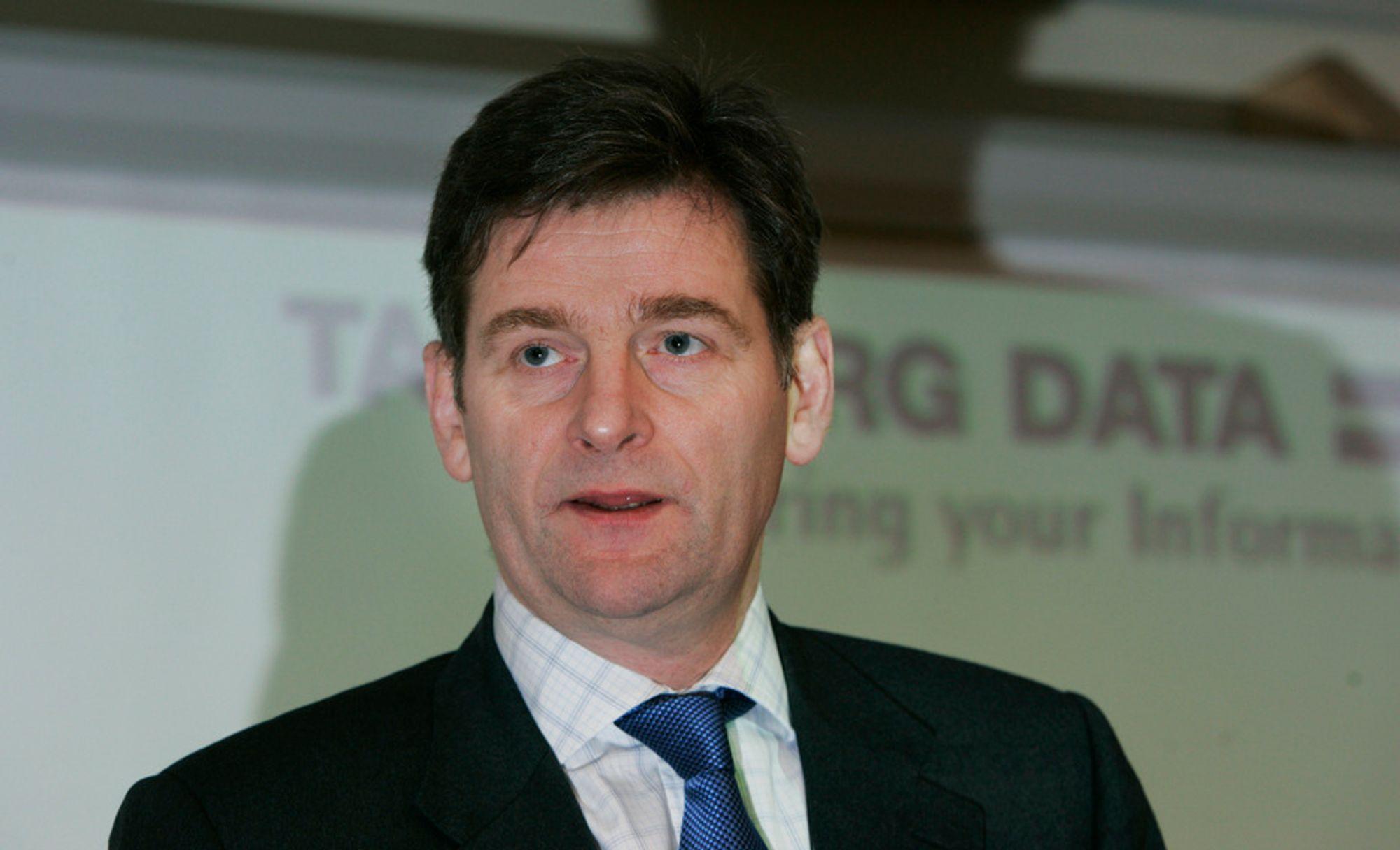 Gudmundur Einarsson, tidligere toppsjef, nå opprørsleder i Tandberg Data. Nå er han tilbake som styreformann fra 11. desember 2007.