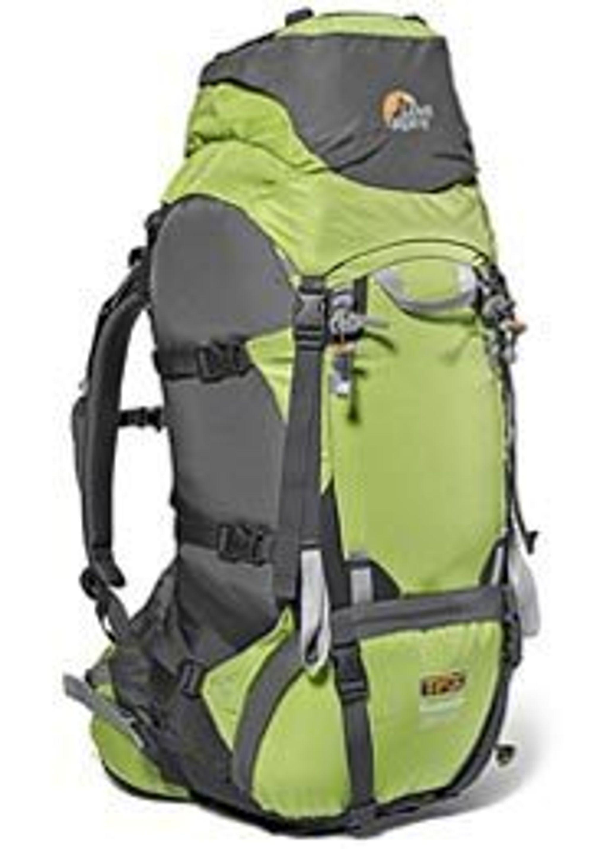 Lowe Alpine TFX9. Ryggsekk. Sportsutstyr. Ny teknologi. Oppblåsbare luftlommer.