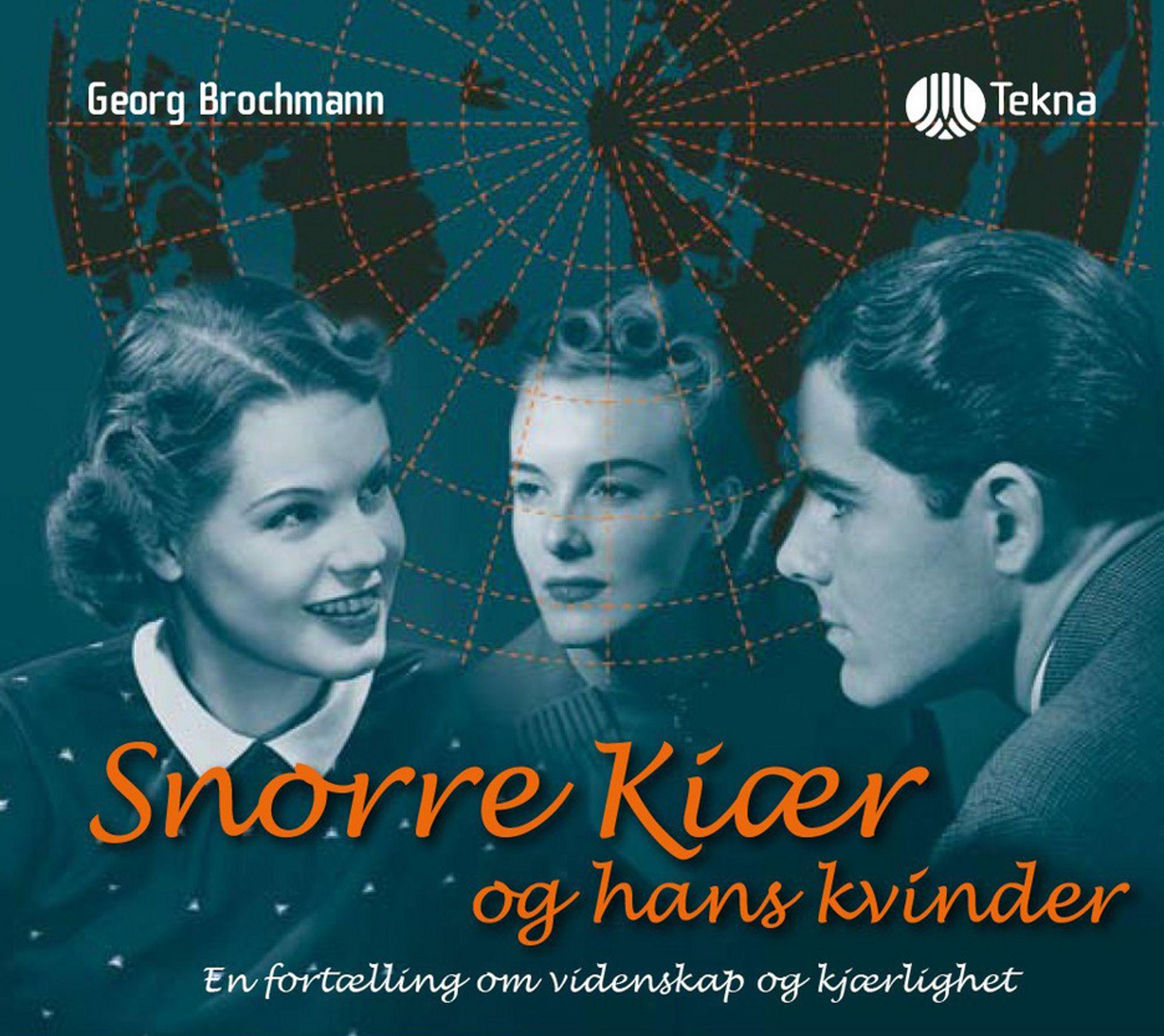 """CD-coveret til lydboka med romanen """"Snorre Kjær og hans Kvinder, En fortælling om videnskap og kjærlighet"""" av Georg Brochmann, sivilingeniør, forfatter og filosof."""