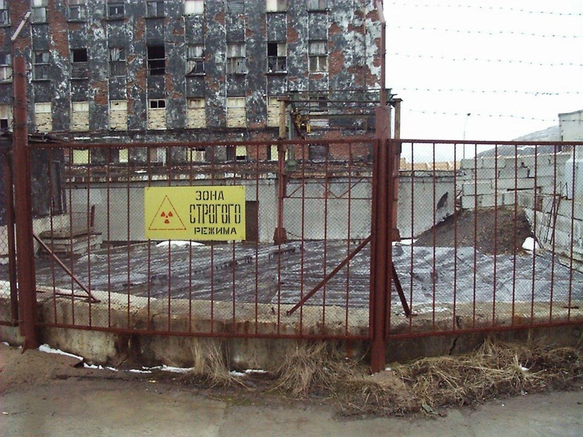 Anlegget i Andrejevabukta, der Russland lagrer atomavfall.