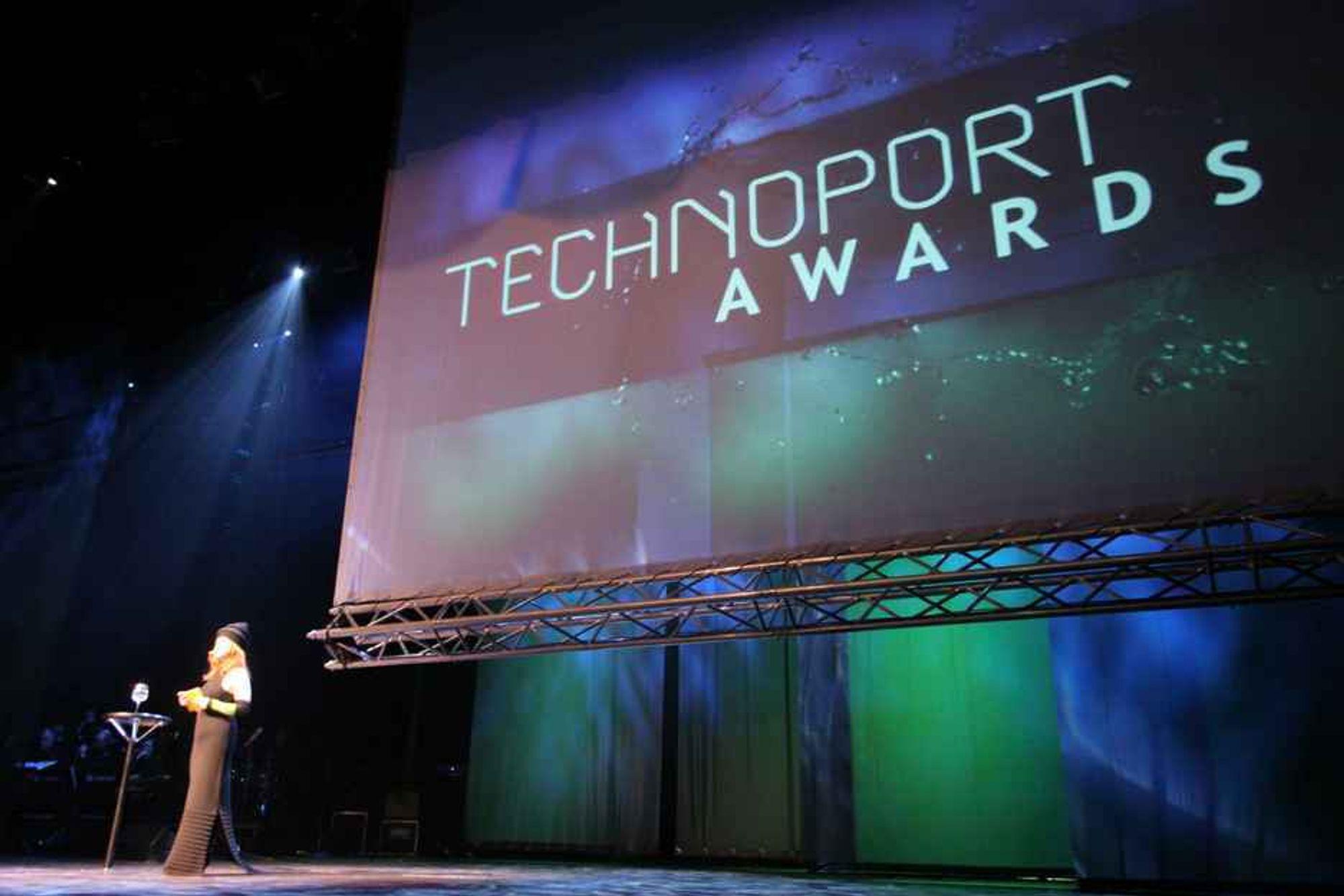 Technoports awards ble gjennomført i Olavshallen i Trondheim. Gry Moldvær var konfransier under den presisjefylte utdelingen av årets teknologipriser.
