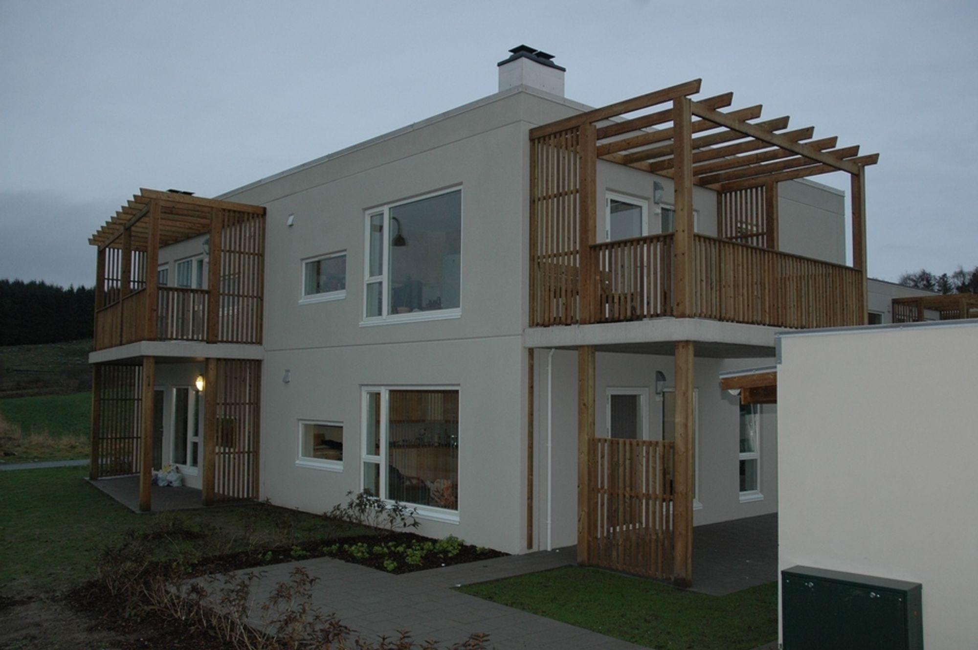 MODERAT I STAVANGER: Stavanger, Bergen og Trondheim hadde lavest prisvekst med 1,1 prosent siste kvartal. Her et småhus fra Stavanger bygget av Block Berge Bygg.