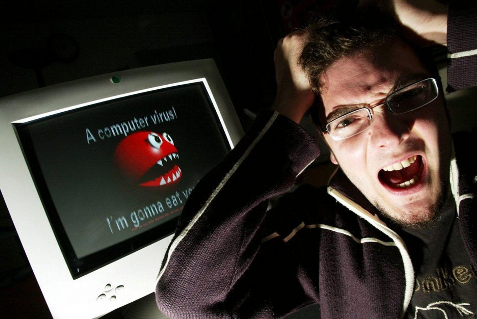 ØDELEGGENDE: Stadig flere opplever å få datamaskinen infisert av virus og annen digital styggedom. Å få blokkert maskinen med datavirus kan være en meget frustrerende og fortvilt situasjon.