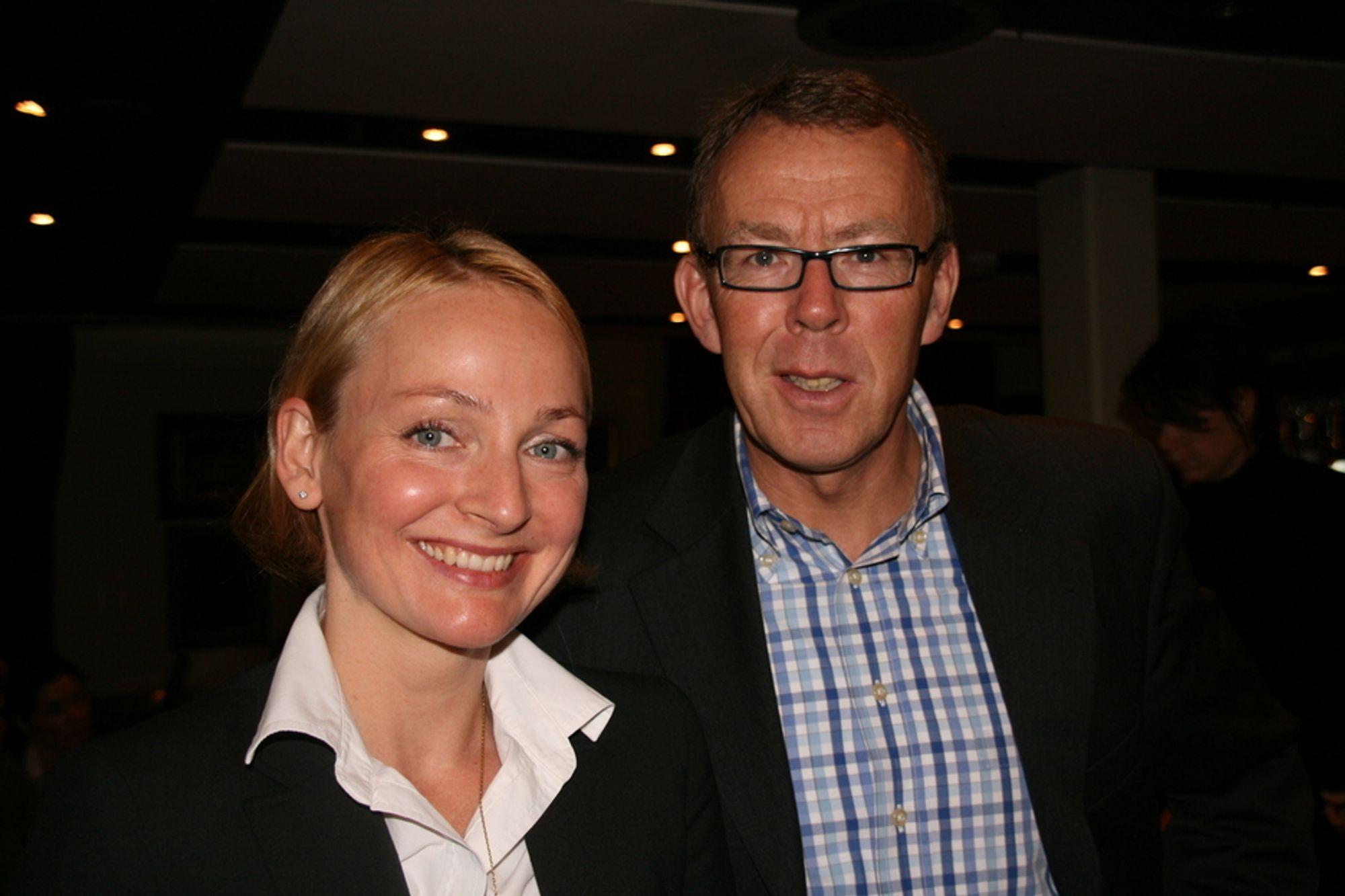 AMBISIØSE: Prosjektleder Liv Freihow og generalsekretær Per Morten Hoff vil undersøke potensiale for kutt i bransjen og sette ambisiøse mål. Foto: Tone Tveøy Strøm-Gundersen