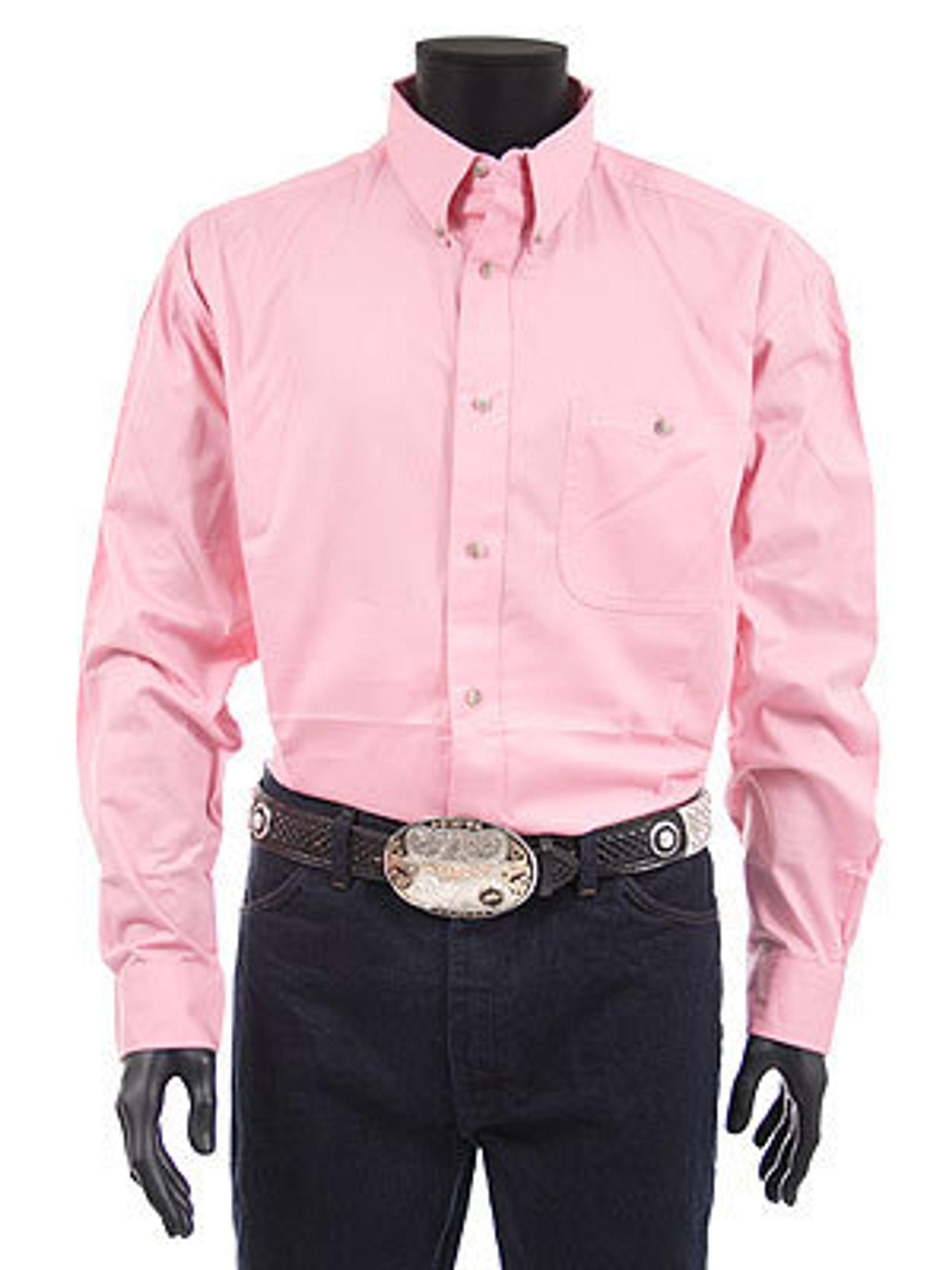 PRETTY IN PINK: Antall rosa skjorter er en morsom temperaturmåler på hvor skjør finansmarkedet er.
