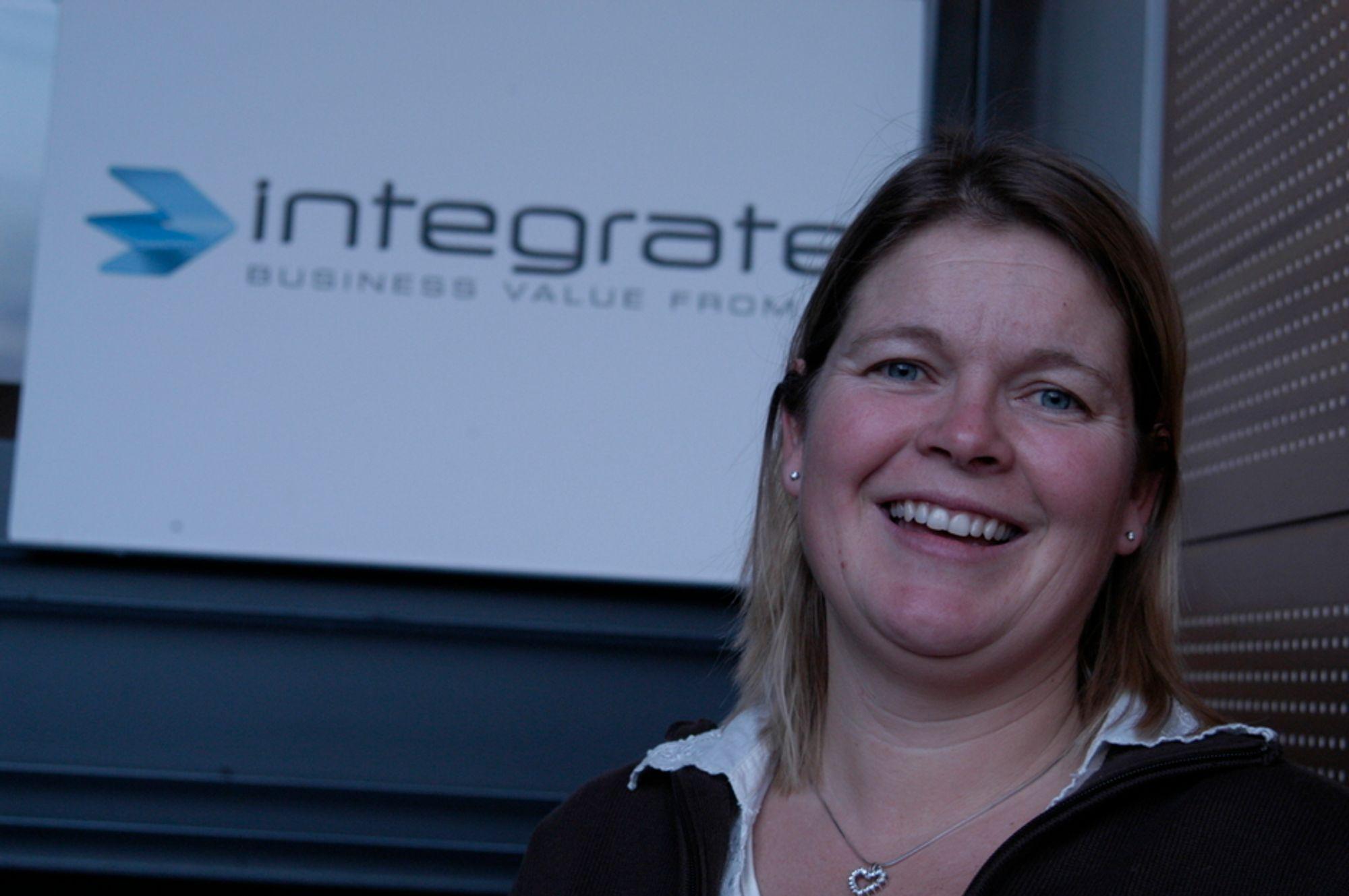 BREDSIDE: Administrerende direktør Kristianne Storehaug i konsulentselskapet Integrate går hardt ut mot sine større konkurrenter i IT-konsulentmarkedet.