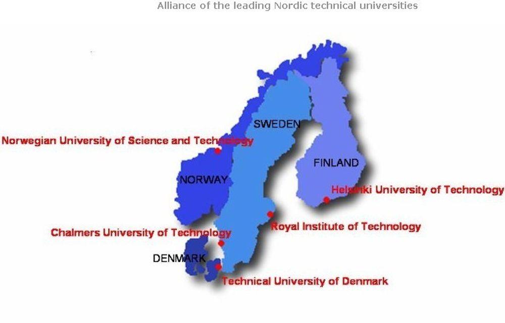 STORT: 60.000 bachelor- og mastergradsstudenter, 4.500 doktorgradsstudenter og 7.500 forskere vil dra nytte av samarbeidet ved de fem nordiske universitetene.