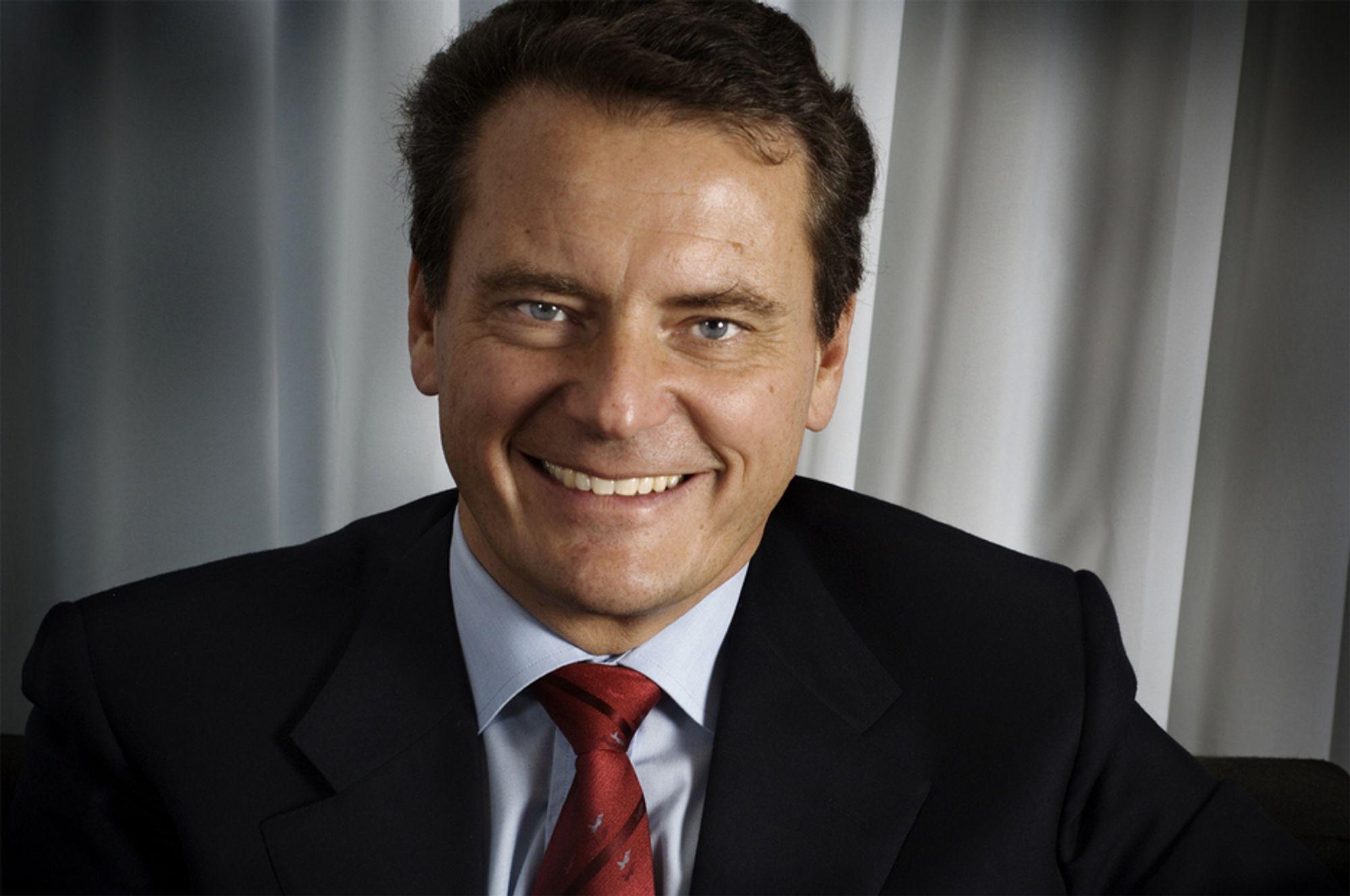 Administrerende direktør i Ericsson, Carl-Henric Svanberg, holdt en pressekonferanse i Ericssons hovedkvarter i dag, etter det ble offentliggjort at de kaster seg inn i kampen om Tandberg Television.