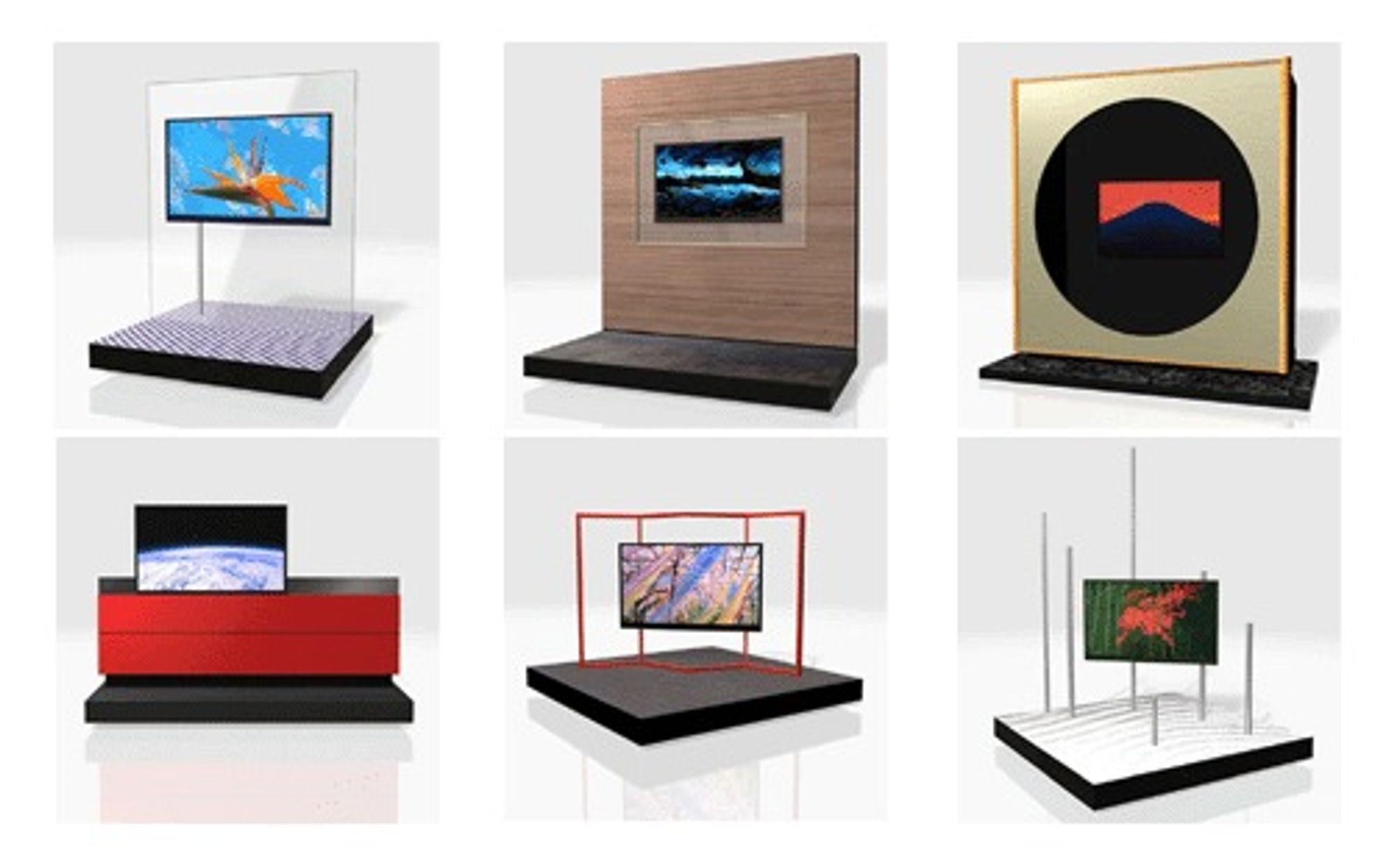 Sharps nye supertynne LCD-TV-er. De er kun 20 millimeter tykke.