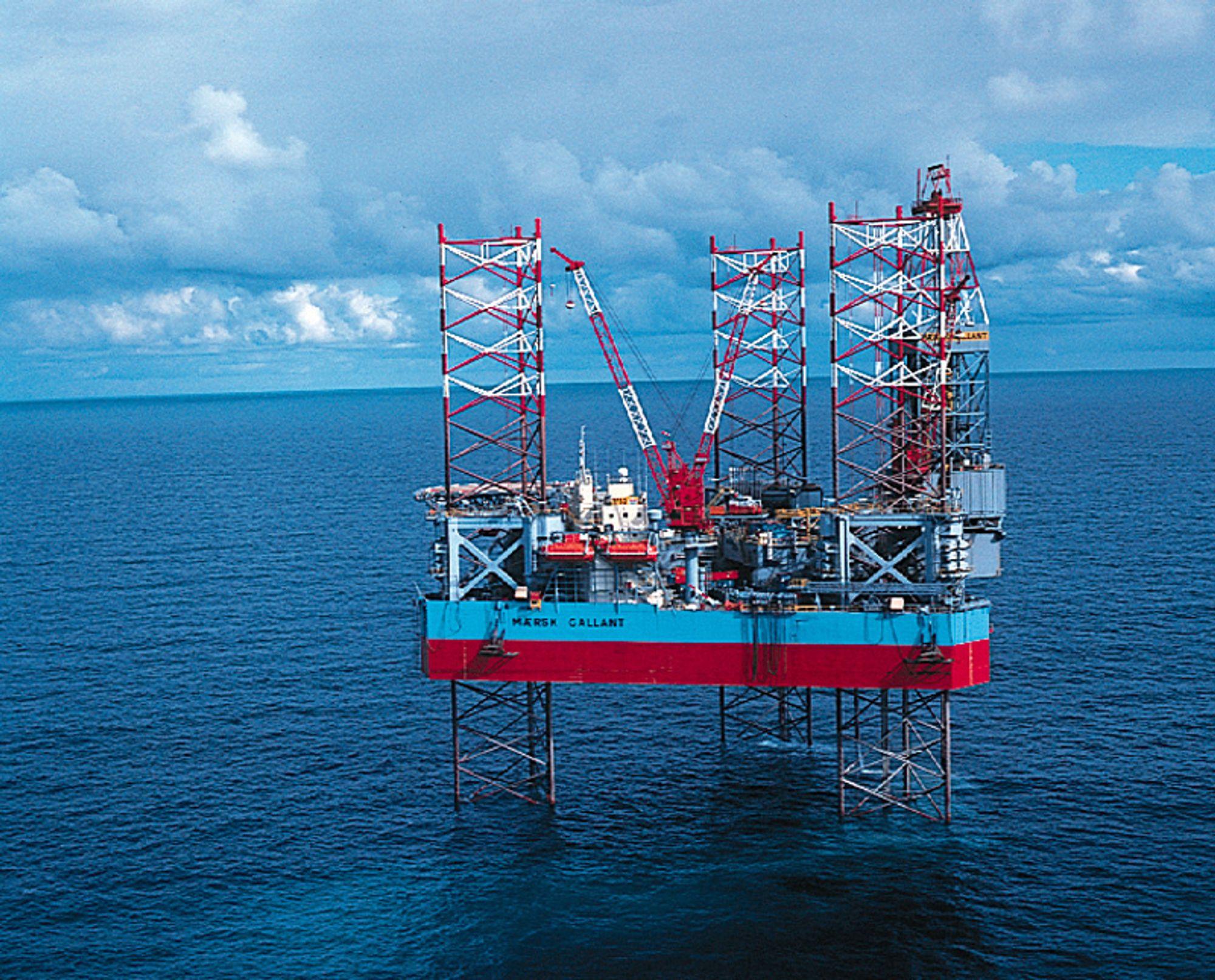 Boreriggen Maersk Gallant var i Nordsjøen da nestenulykken skjedde.