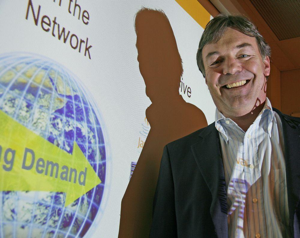 RIKTIG VEI:  Åpen kildekode er veien fremover, ifølge markedsdirektør i Sun, Jens Petter Mathiesen.