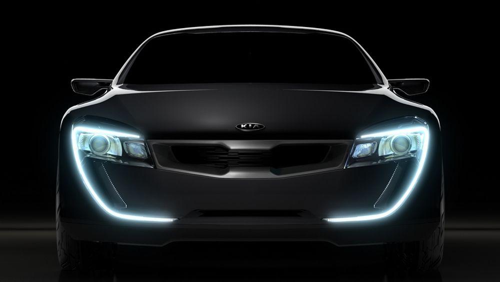 Kia Sports Coupe Concept lys lysdioder bil