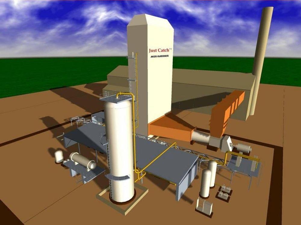 STÅL OG BETONG: CO2-fjerningstanken bygges i stål, mens selve absorpsjonskolonnen kan bygges i betong.