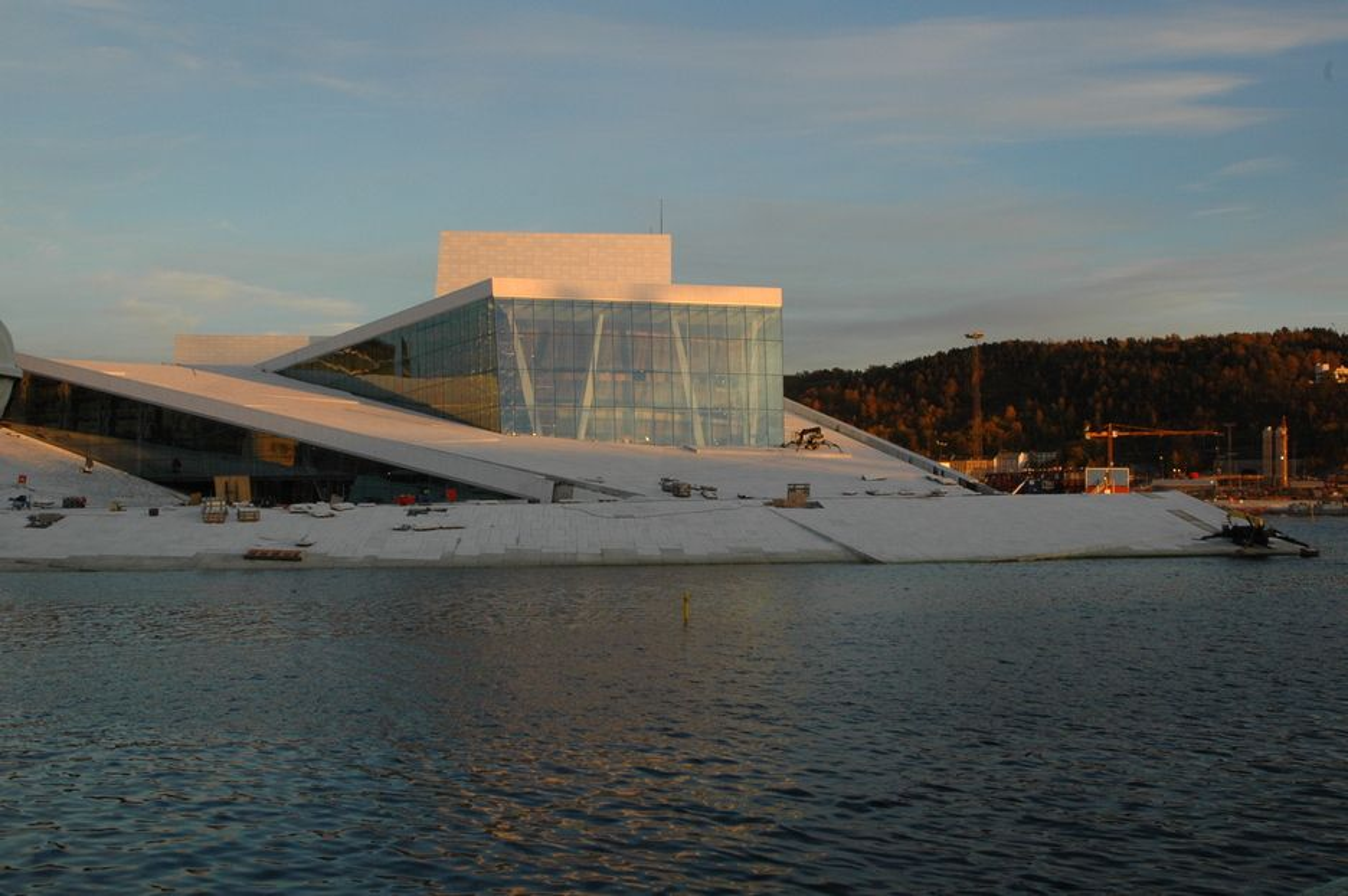 Operaen i Bjørvika, sett fra stedet senketunnelen skal vake under overfalten.