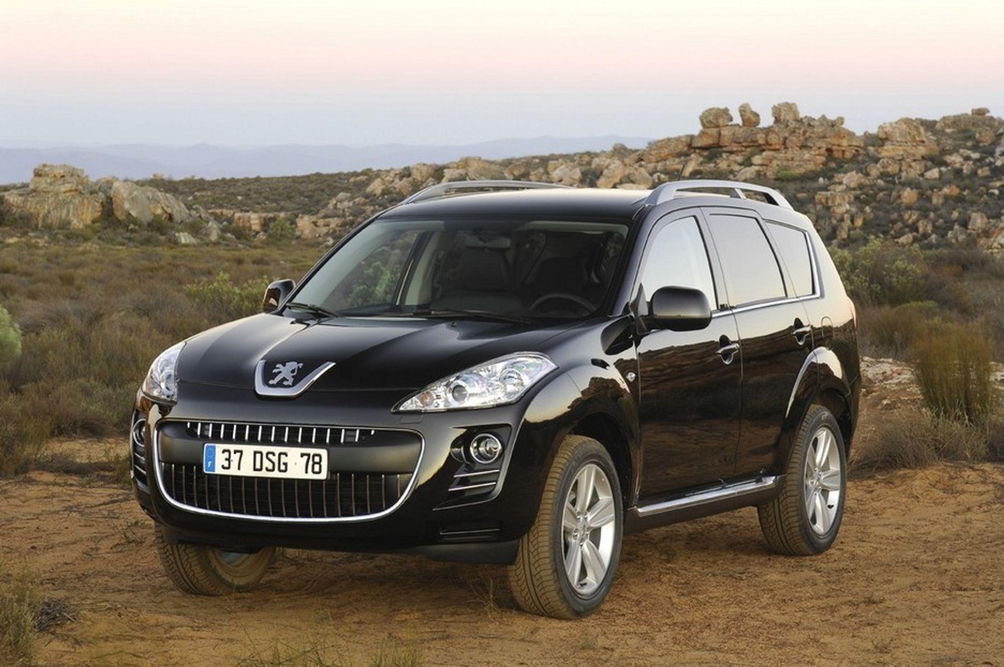 MED BIODIESEL: Også nye Peugeot 4007 kan kjøres med 30 prosent innnblanding av biodiesel i drivstoffet, akkurat som alle andre dieselmodeller fra PSA.