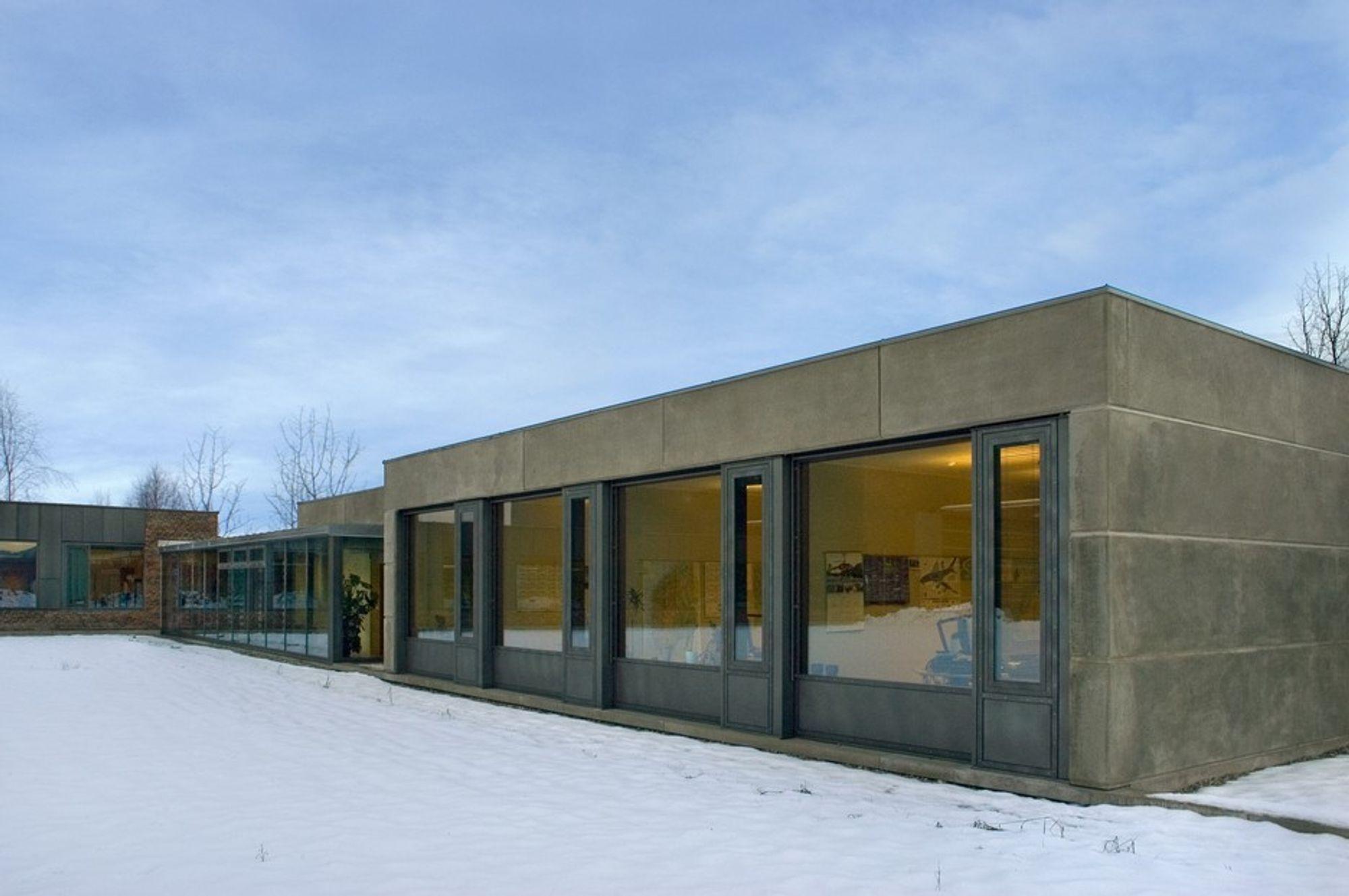 PRISET BYGG: Hvarikommisjonen for transport på Lillestrøm holder til i dette prisbelønte bygget, tegnet av Longva Arkitekter AS.