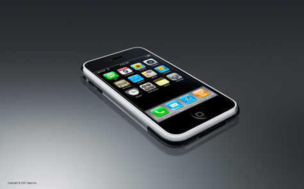 Apple iPhone. Mobiltelefon. Smartphone. Musikkspiller. Multimediespiller. MP3-spiller. iTunes. iPod.
