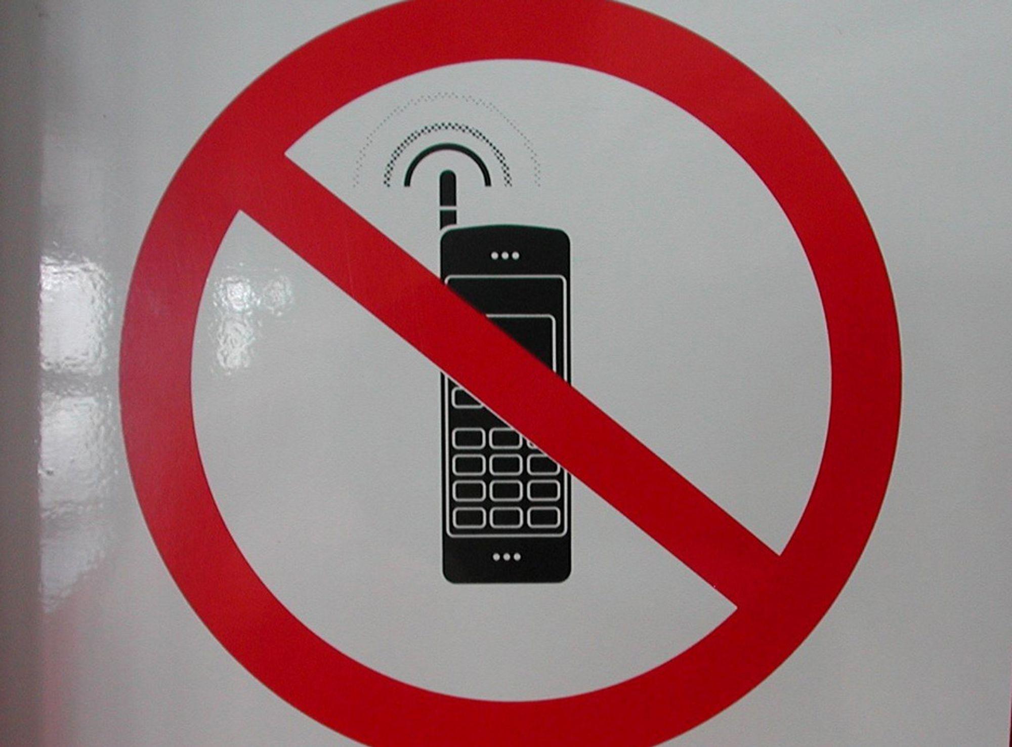 Mobiltelefon forbud sykehus