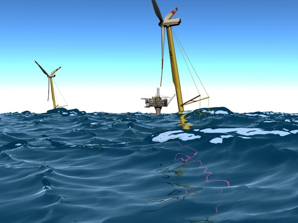 Lyse Energi er med på utviklingen av  flytende vindturbiner med konseptet Sway.