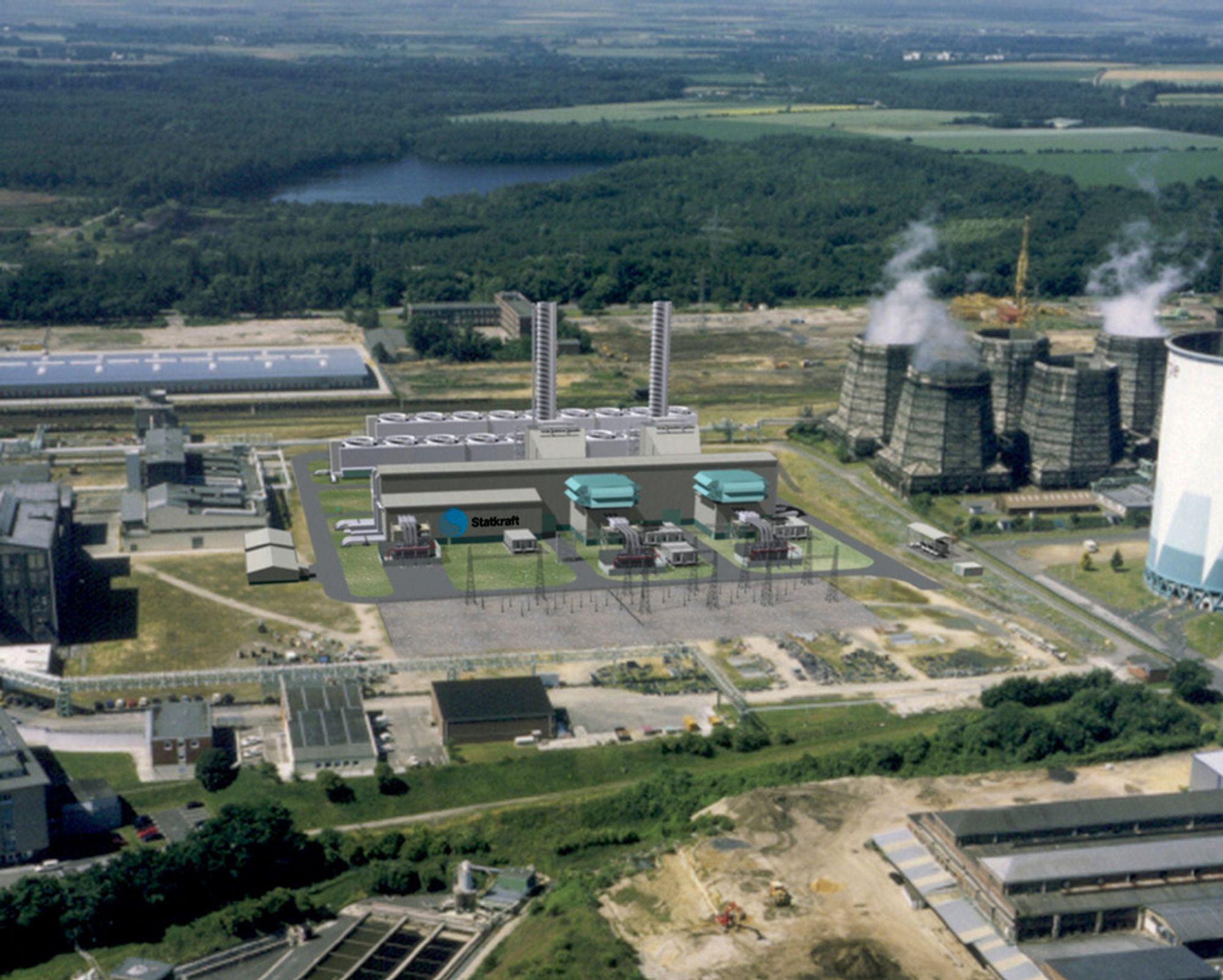 ÅPNET: Statkrafts gasskraftverk i Knapsack  i Tyskland får en totaleffekt på 800MW.